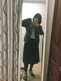 童童童さんの「WOMEN シフォンプリーツスカート(ユニクロ|ユニクロ)」を使ったコーディネート