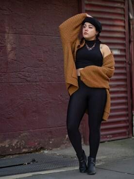 「FOREVER 21 Coated Nylon Leggings(FOREVER 21)」 using this Ashley Jacklyn looks