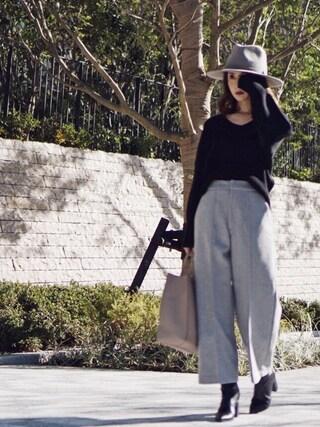 仲村美香さんの「15AW_フェルトハット2/570134(BLISS POINT|ブリスポイント)」を使ったコーディネート