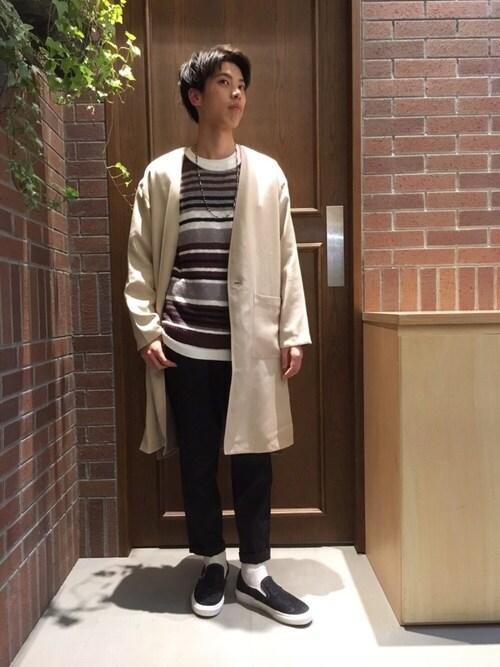 RAGEBLUEイオンモール浜松市野店吉岡さんのネックレス「ブラスコンビネックレス/750530(RAGEBLUE|レイジブルー)」を使ったコーディネート