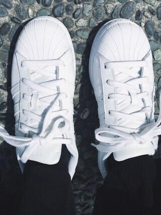 「adidas Originals / SUPERSTAR 80S METAL TOE W(adidas)」 using this 阿久津ゆりえ looks