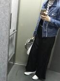 ゆーみんさんの「【CONVERSE】STAR COLORS HI(CONVERSE コンバース)」を使ったコーディネート