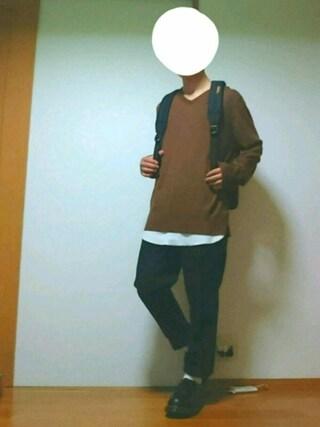 「<吸水速乾>ワッフルロングタンク/751488(RAGEBLUE)」 using this あすく looks