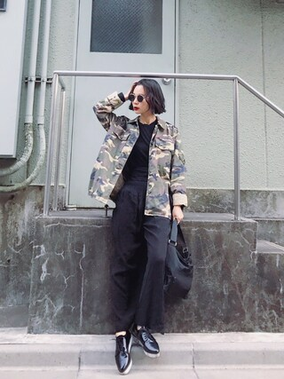 「THE TUFF PATROL(BLK)(SLY)」 using this ARISA looks