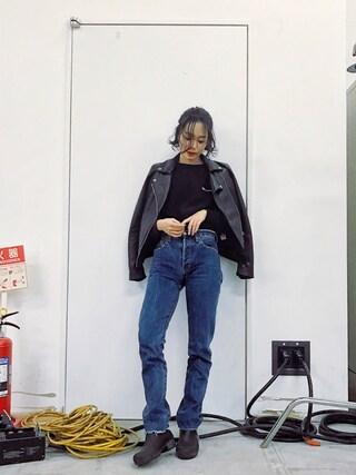 「[別注チャンピオン]Champion×GLR RW EMB POスウェット(Champion)」 using this ARISA looks