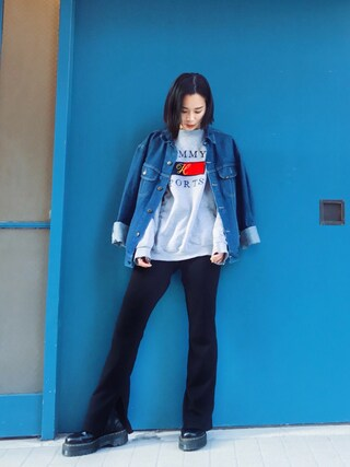 「RIB FLARE PT(MOUSSY)」 using this ARISA looks
