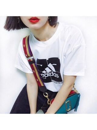 「W ID スクウェアグラフィックS/STシャツ MSY(MOUSSY)」 using this ARISA looks