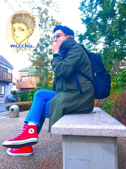 m i c h u 🍖さんの「CONVERSE / CVS ALL STAR  HI(CONVERSE)」を使ったコーディネート