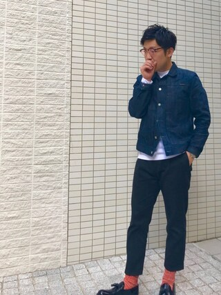 m i c h u 🍖さんの「SONNY/Org. Dry Clean Selvage(Nudie Jeans|ヌーディージーンズ)」を使ったコーディネート