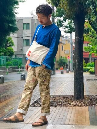 m i c h u 🍖さんの「■坂口健太郎さん着用■デニムフリンジシャツ【niko and ...】(niko and... ニコアンド)」を使ったコーディネート