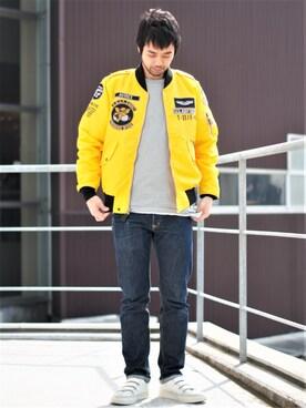 AVIREX 横浜 ATSUSHIさんのミリタリージャケット「avirex/アヴィレックス/ L-2 MATERIAL COMMAND/ L-2 マテリアル コマンド(AVIREX アヴィレックス)」を使ったコーディネート