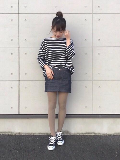 Natsumiさんの「A.P.C. Denim Miniskirt(A.P.C.)」を使ったコーディネート