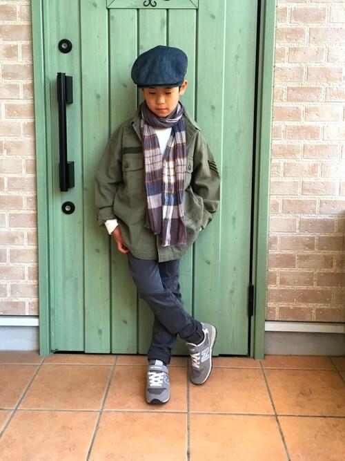 东成人教育先��cey/c_搭配贝雷帽的时尚穿搭总览(身高:121cm~130cm) - wear