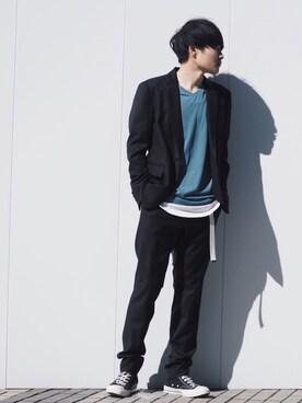 STUDIOUS ルミネ池袋店|Ryoさんの「【WEB限定】 STUDIOUS ガチャベルト(STUDIOUS|ステュディオス)」を使ったコーディネート