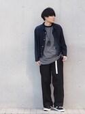 Ryoさんの「【WEB限定】 STUDIOUS ガチャベルト(STUDIOUS|ステュディオス)」を使ったコーディネート