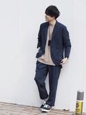Ryoさんの「【ZOZO限定】STUDIOUS リブニットTシャツ 【先行予約】(STUDIOUS|ステュディオス)」を使ったコーディネート