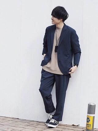 「【ZOZO限定】STUDIOUS カラーCOOLライトジャケット 【先行予約】(STUDIOUS)」 using this STUDIOUS ルミネ池袋店|Ryo looks