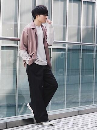 「【ZOZO限定】STUDIOUS ポンチオーバークルーネックロンT 【先行予約】(STUDIOUS)」 using this STUDIOUS ルミネ池袋店|Ryo looks