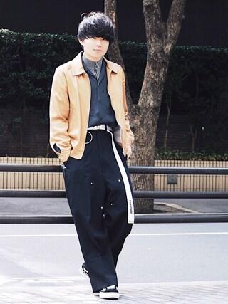 STUDIOUS ルミネ池袋店|Ryoさんの「<NEEDLES> STN SPORT JKT/スポーツジャケット(Needles|ニードルス)」を使ったコーディネート