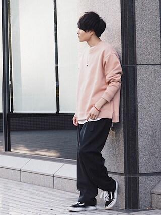「STUDIOUS ワッフルサーマルロンT(STUDIOUS)」 using this STUDIOUS ルミネ池袋店|Ryo looks