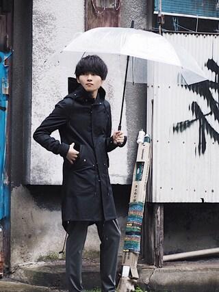 STUDIOUS ルミネ池袋店 Ryoさんの「【wjk black】≪STUDIOUS限定≫SPRING MODS COAT(wjk black ダブルジェイケイブラック)」を使ったコーディネート