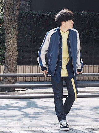「STUDIOUS トリアセテートサテンスカジャン 【先行予約】(STUDIOUS)」 using this STUDIOUS ルミネ池袋店|Ryo looks
