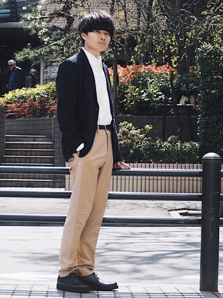 STUDIOUS ルミネ池袋店 Ryoさんの「【AKM Contemporary】≪STUDIOUS別注≫ジャージーツイル2Bジャケット(AKM Contemporary エイケイエム コンテンポラリー)」を使ったコーディネート