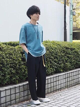 「STUDIOUS デニムプルオーバーシャツ(STUDIOUS)」 using this STUDIOUS ルミネ池袋店|Ryo looks