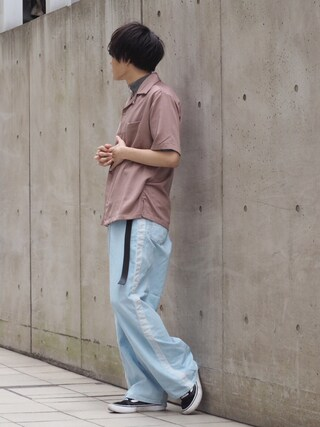 STUDIOUS ルミネ池袋店|Ryoさんの「【ZOZO限定】STUDIOUS フィブリルサテンオープンカラーシャツ 【先行予約】(STUDIOUS|ステュディオス)」を使ったコーディネート
