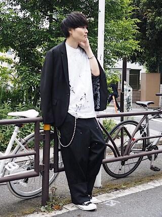 STUDIOUS ルミネ池袋店 Ryoさんの「【NUMBER (N)INE】≪STUDIOUS限定≫ストレッチマイクロギャバ2Bジャケット(NUMBER (N)INE ナンバーナイン)」を使ったコーディネート