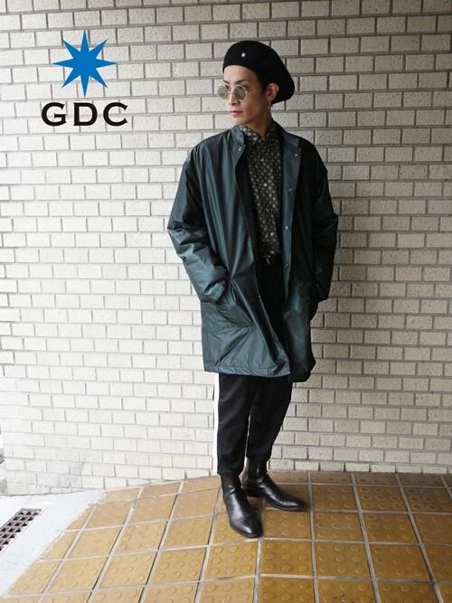 GDCTOKYO -HARAさんの「BAND COLLAR BENCH COAT(GDC)」を使ったコーディネート