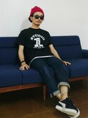 「STUDIO ONE Tシャツ(VINTAGE)」 using this AKIRAKUBOTA looks