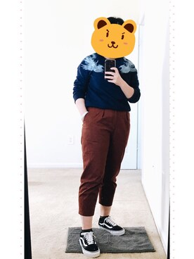 (UNIQLO) using this 画眉金 looks
