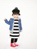 kaoooyunawearさんの「converse(コンバース) CHILD ALL STAR N Z HI(チャイルドオールスターNZHI)(CONVERSE|コンバース)」を使ったコーディネート