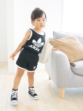 kaoooyunaさんの「CHILD ALL STAR N Z HI/チャイルド オールスター N Z HI(CONVERSE|コンバース)」を使ったコーディネート