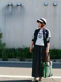kuwamayu0610さんの「【adicolor】オリジナルス トラックトップジャージ[SUPERGIRL TRACK TOP](adidas アディダス)」を使ったコーディネート