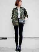 mikiさんの「ファティークシャツ ジャケット(THE SHINZONE|ザ シンゾーン)」を使ったコーディネート