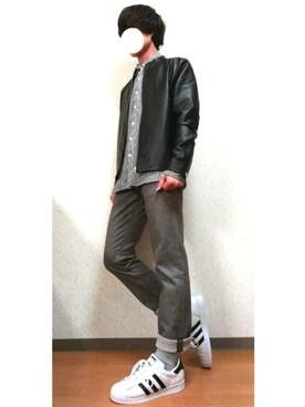 RIKIさんの「メンズ アディダス オリジナルス スーパースター メタリック adidas Originals SUPERSTAR S75873(adidas originals)」を使ったコーディネート