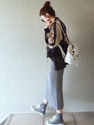 「BACK EMBROIDERYリバーシブルスカジャン(EVRIS)」 using this MISATO  looks