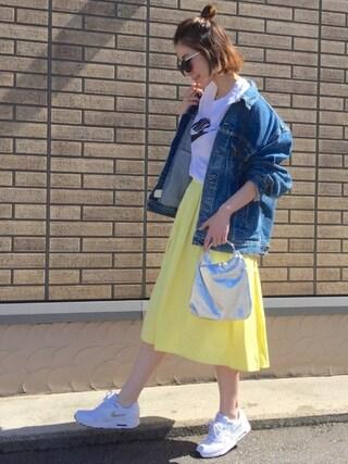 「NIKE ナイキ フューチュラ アイコン Tシャツ(PLAIN CLOTHING)」 using this MISATO  looks
