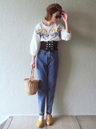 「【SOMETHING for ADAM ET ROPE'】別注FRENCH NOUVEAU W-FRONT SLIM(SOMETHING)」 using this MISATO  looks
