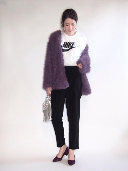 MISATO さんの「NIKE ナイキ フューチュラ アイコン Tシャツ(PLAIN CLOTHING)」を使ったコーディネート