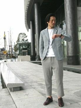 45R 仙台パルコ2店|93さんのTシャツ/カットソー「45★Tシャツ(45R|フォーティファイブ・アール)」を使ったコーディネート