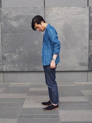 「藍リネンデニムジャケットカーディガン(45R)」 using this 45R ルクアイーレ店|93 looks