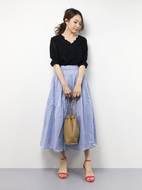 momokoさんの「ROSSO インド綿マキシスカート(URBAN RESEARCH ROSSO)」を使ったコーディネート
