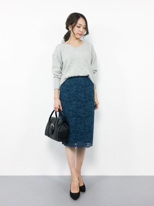 momokoさんの「●JOC Lily レース タイトロングスカート(Jewel Changes)」を使ったコーディネート