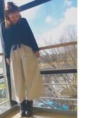 misakiさんの「バンダナスカーフリング/728283(JEANASIS|ジーナシス)」を使ったコーディネート