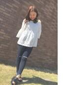 misakiさんの「レースキャミ/749398(JEANASIS|ジーナシス)」を使ったコーディネート