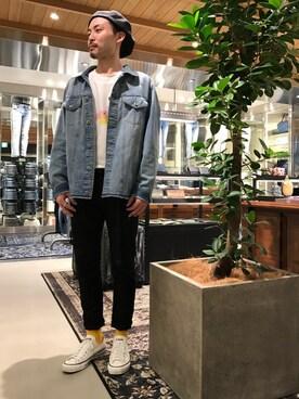 DIESEL HOOP|水本健矢さんの(DIESEL|ディーゼル)を使ったコーディネート