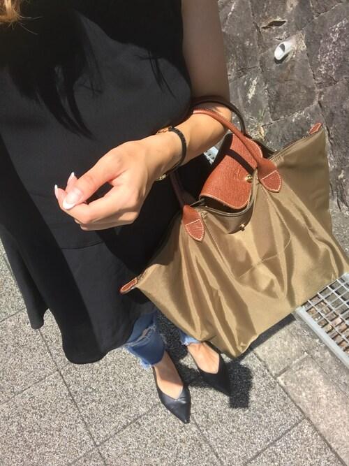 sale retailer 19275 89b34 COCOmama ◡̈|LONGCHAMPのハンドバッグを使ったコーディネート ...